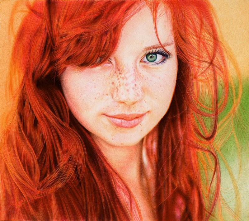Tumblr - Redhead_girl___ballpoint_pen_by_vianaarts