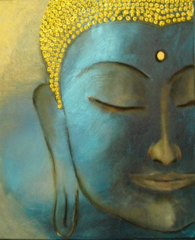 Tumblr - Blue golden buddha - sandra turnbull