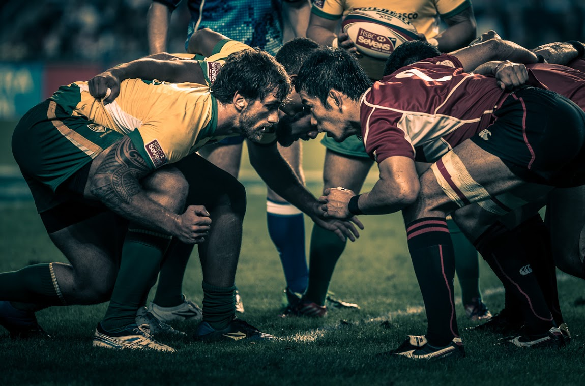 Tumblr - Rugby scrum, seven a side