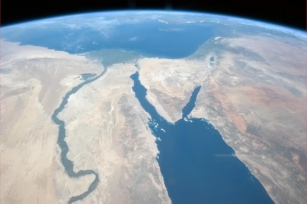 Tumblr - Sinai from space