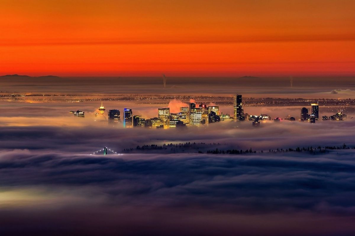 Tumblr - Vancouver skyscrapers in the fog