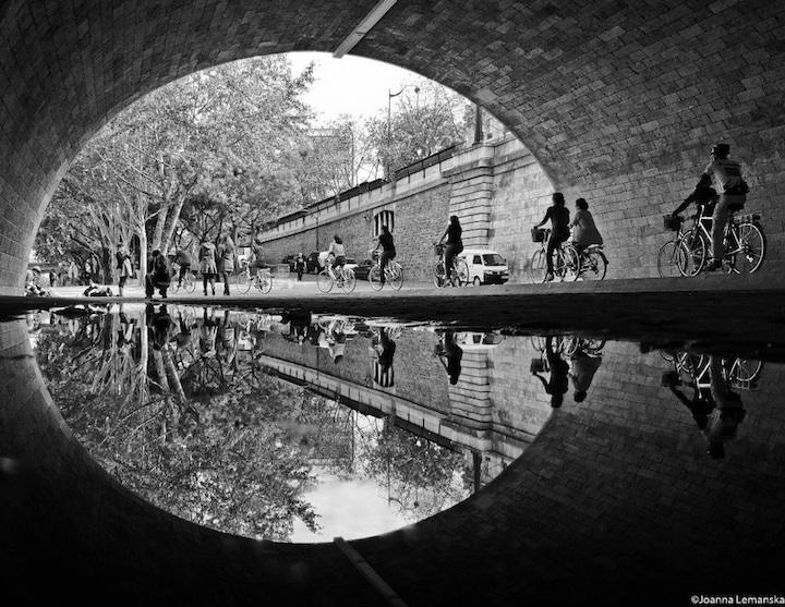 Velorution - Riders under bridge in Paris joannalemanska0