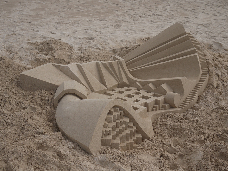 Tumblr - Geometric sandcastle