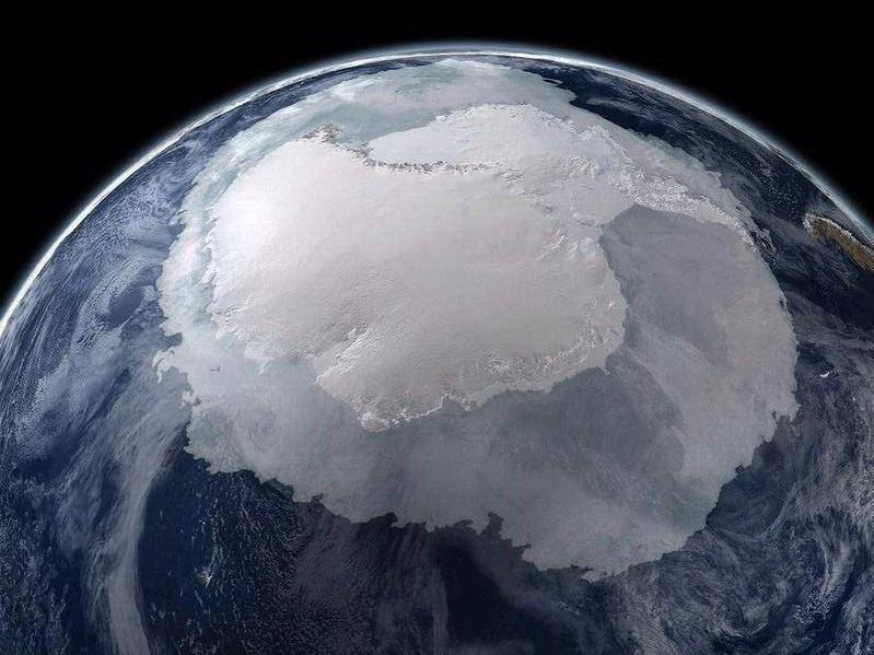 Tumblr - Antartica from space