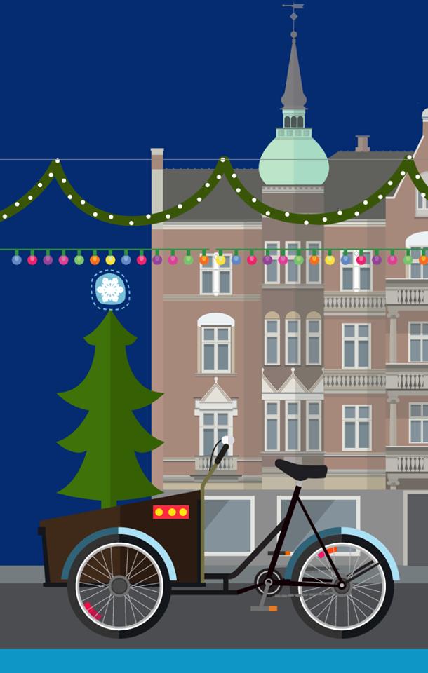 Christiania - Drawing, w Christmas tree