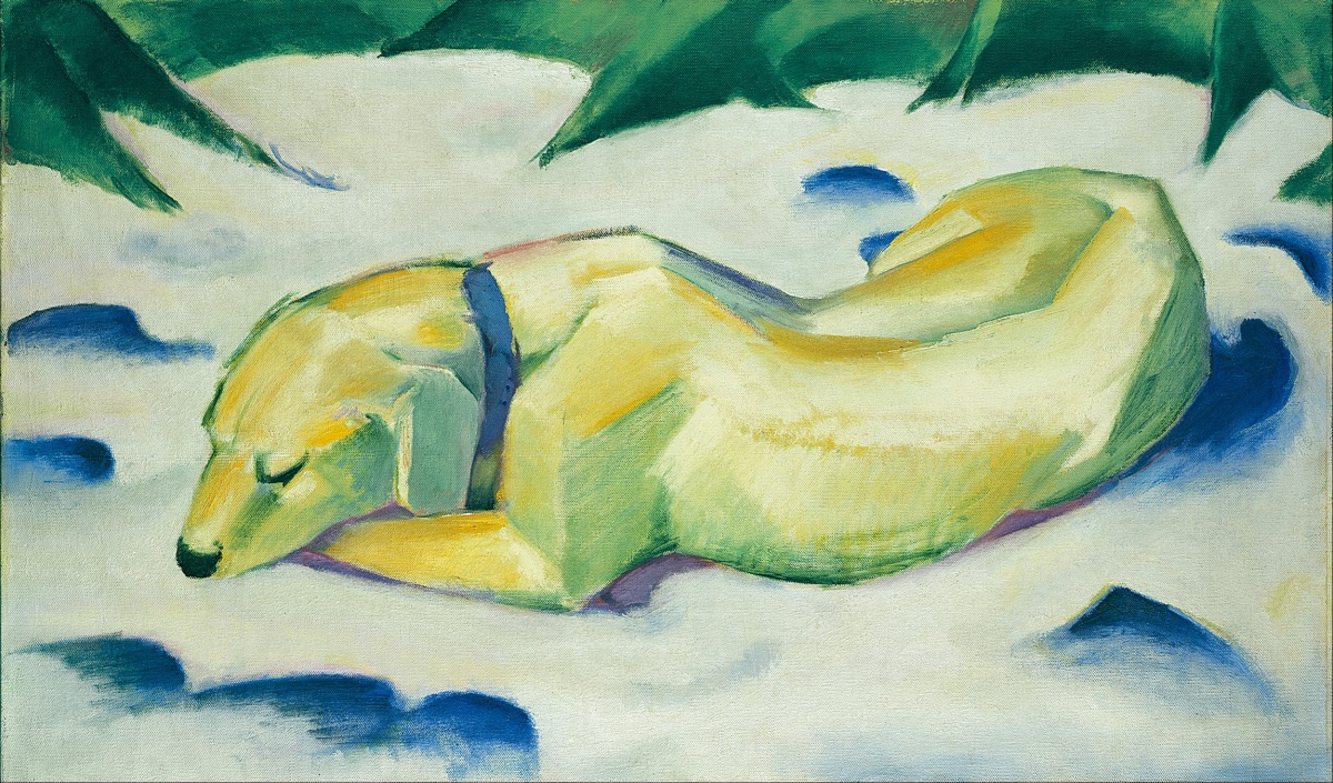 Tumblr - Franz_Marc_-_Dog_Lying_in_the_Snow_-_Google_Art_Project