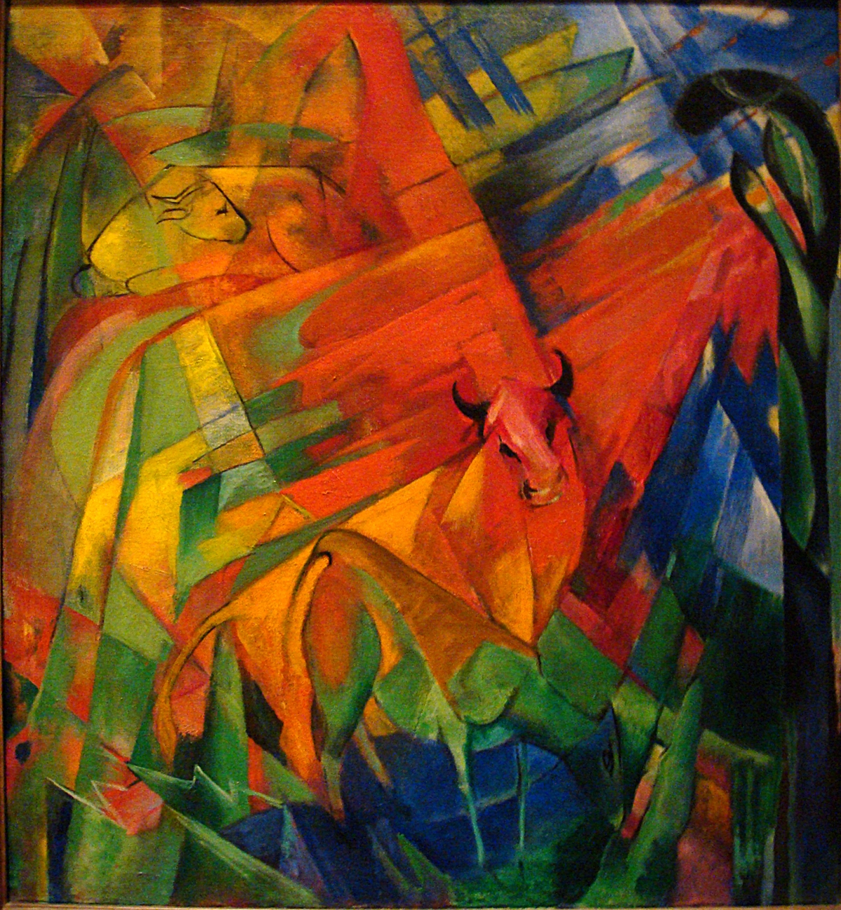 Tumblr - Franz_Marc_1914_Animals_in_a_Landscape