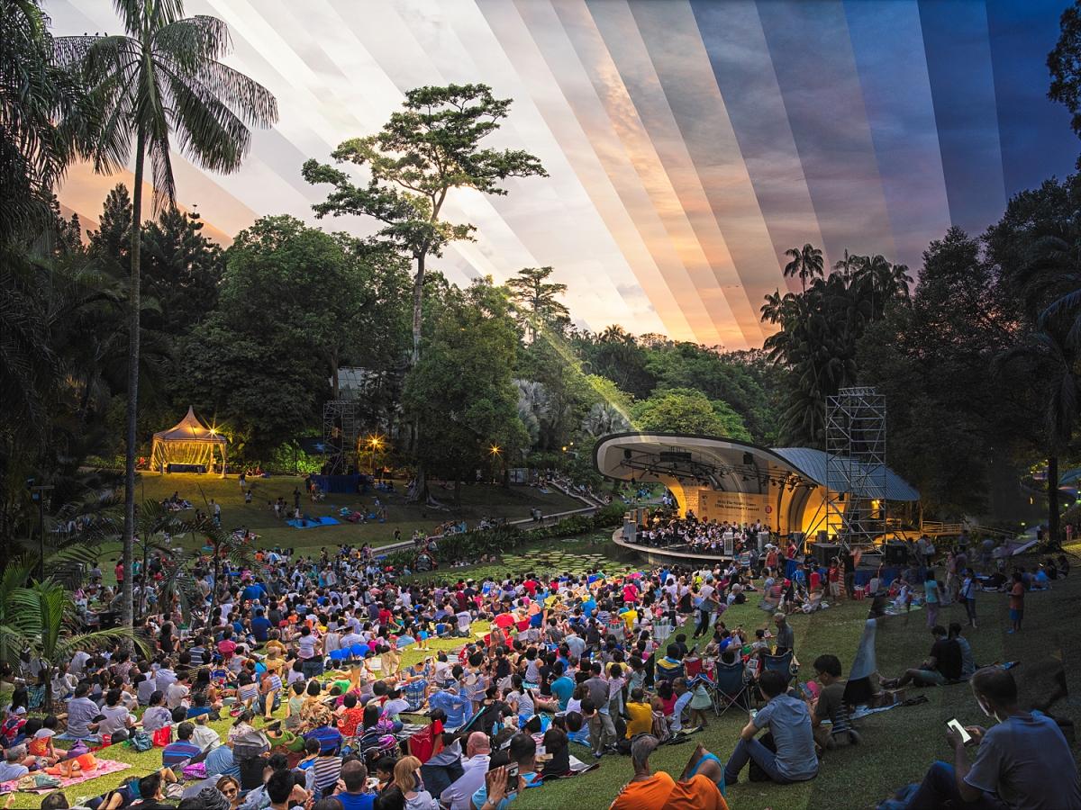 Concert at the Singapore Botanical Gardens, 2015.