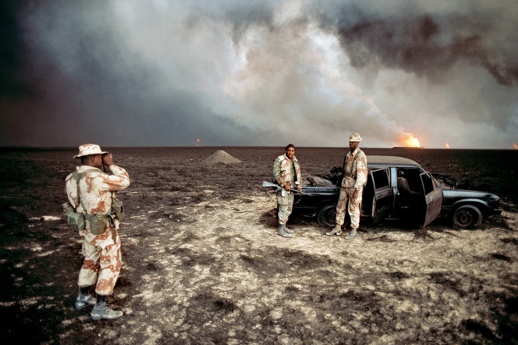 KUWAIT. Gulf War.U.S. Marines. 1991.