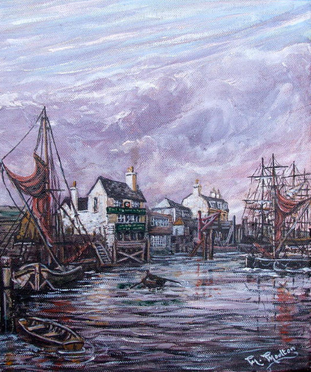 The Prospect Of Whitby Wapping London Painting by Mackenzie Moulton17